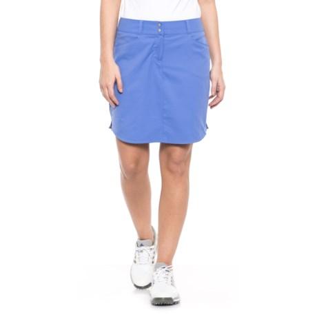 adidas Essentials 3-Stripes Golf Skort (For Women) in Baja Blue
