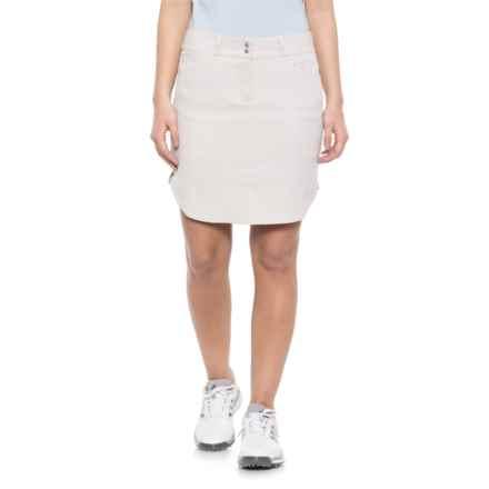 adidas Essentials 3-Stripes Golf Skort (For Women) in Light Khaki - Closeouts
