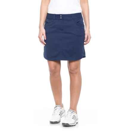 adidas Essentials 3-Stripes Golf Skort (For Women) in Night Sky - Closeouts