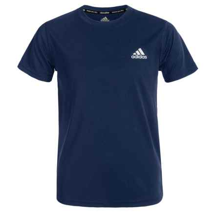 adidas Essentials ClimaLite® T-Shirt - Short Sleeve (For Big Boys) in Collegiate Navy - Closeouts
