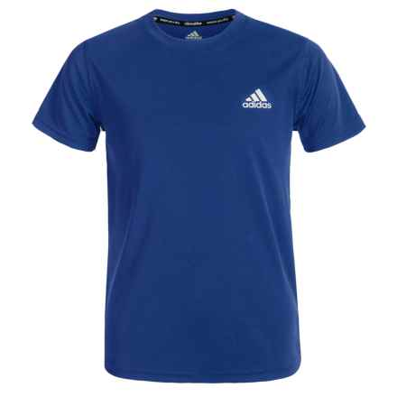adidas Essentials ClimaLite® T-Shirt - Short Sleeve (For Big Boys) in Collegiate Royal - Closeouts