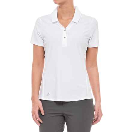 adidas Essentials Jacquard Polo Shirt - Short Sleeve (For Women) in White - Closeouts