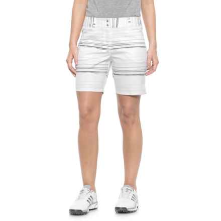 "adidas Essentials Printed Golf Shorts - 7"" (For Women) in White - Closeouts"