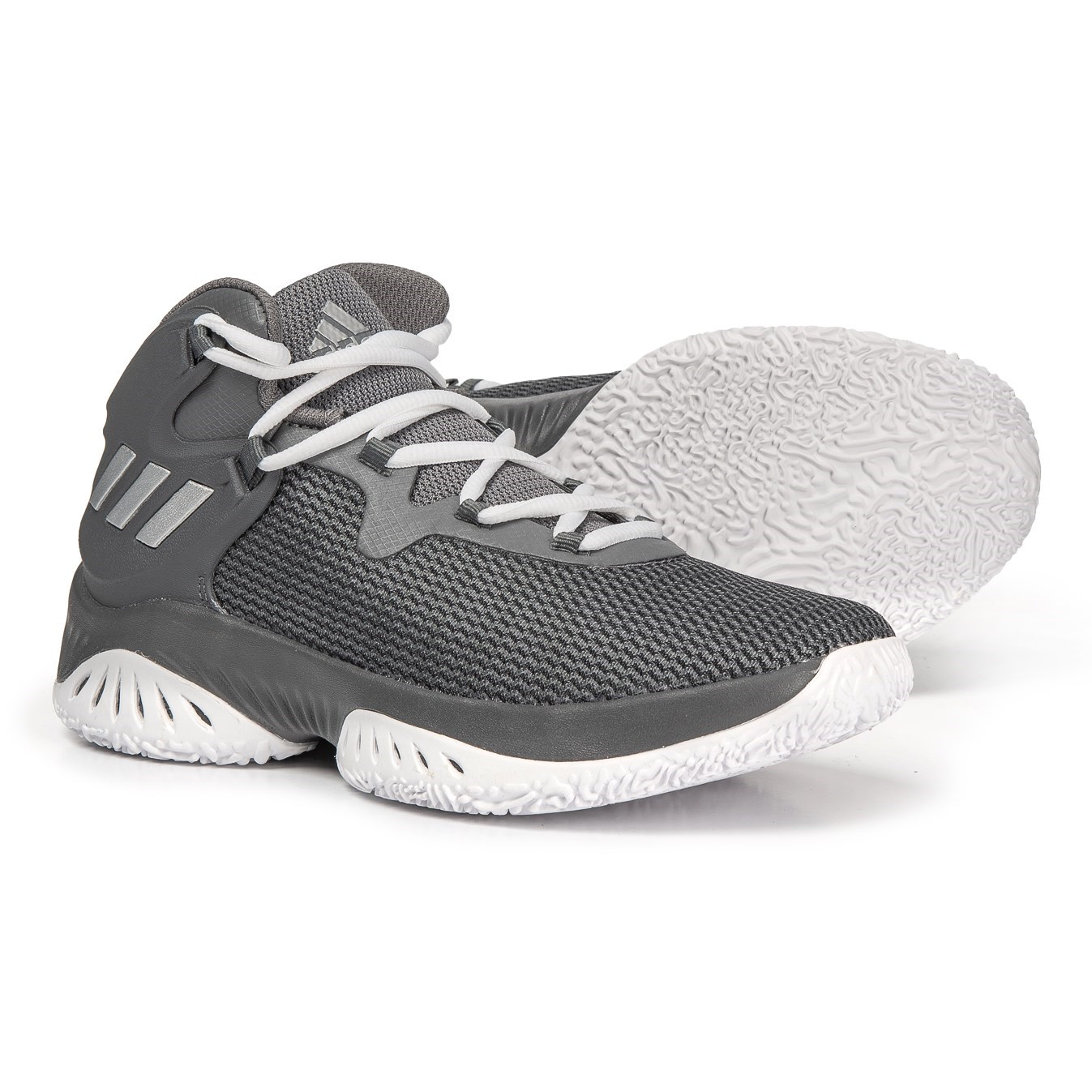 3f4f501638445 adidas Explosive BOUNCE J Basketball Shoes (For Big Kids) in Grey  Four Silver ...