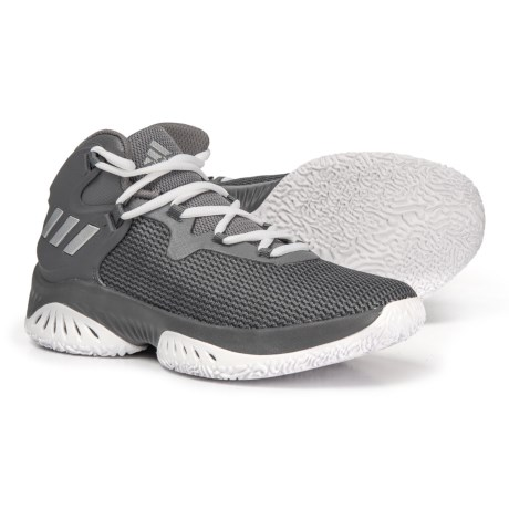 0aa6e75ece77e adidas Explosive BOUNCE J Basketball Shoes (For Big Kids) in Grey  Four Silver