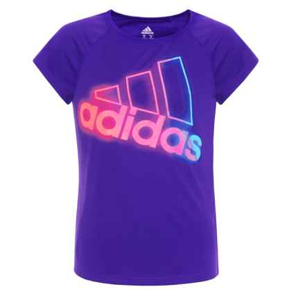 adidas Extraordinary T-Shirt - Short Sleeve (For Big Girls) in Dark Purple - Closeouts