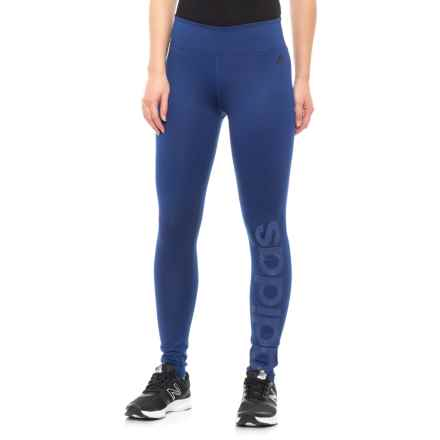 b20bdd8380917 adidas Fab Linear Long Tights (For Women) in Mystic Ink - Closeouts