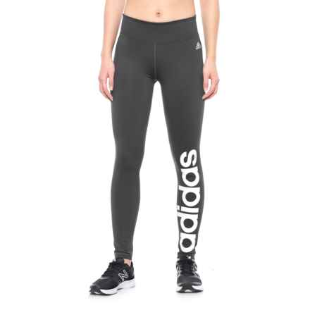 adidas Fab Linear Tights (For Women) in Black/White - Closeouts