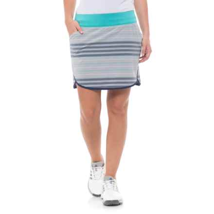 adidas Fashion Rangewear Golf Skorts (For Women) in Light Grey Heather/Energy Blue - Closeouts