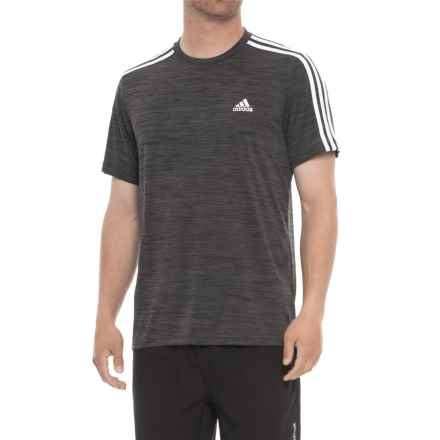 adidas Fire Ball 3-Stripe Shirt - Short Sleeve (For Men) in Dark Grey Heather - Closeouts