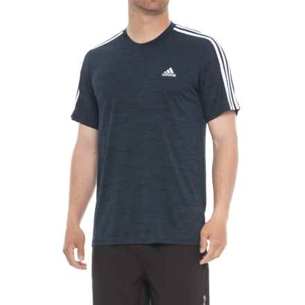 adidas Fire Ball 3-Stripe Shirt - Short Sleeve (For Men) in Navy - Closeouts