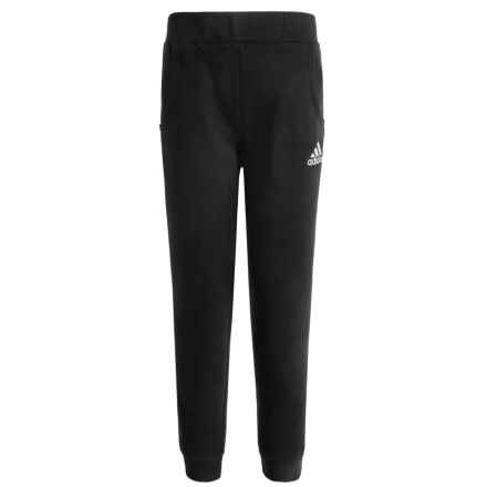 adidas Fleece Joggers (For Big Boys) in Black/White - Closeouts