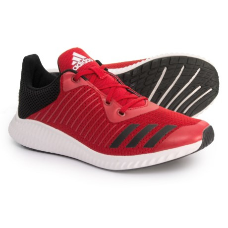 adidas FortaRun Running Shoes (For Little and Big Kids) in Scarlet/Core Black/Footwear White