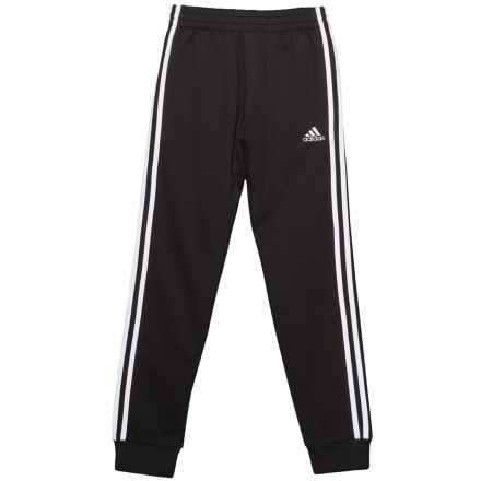 adidas French Terry Joggers (For Big Boys) in Black W/White - Closeouts