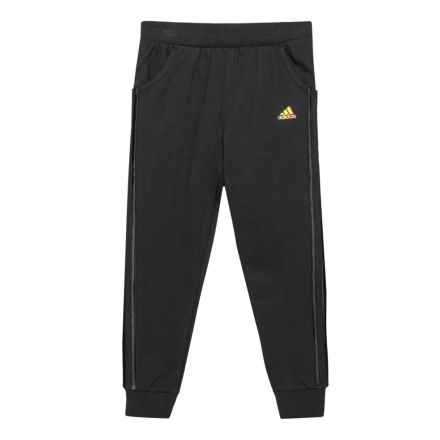 adidas French Terry Joggers (For Big Girls) in Black - Closeouts