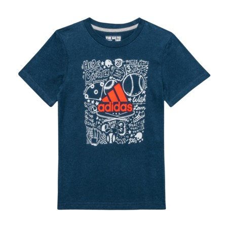 adidas Future Sport T-Shirt - Short Sleeve (For Little Boys) in Navy