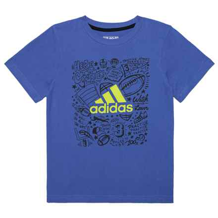 adidas Future Sport T-Shirt - Short Sleeve (For Toddler Boys) in Royal - Closeouts