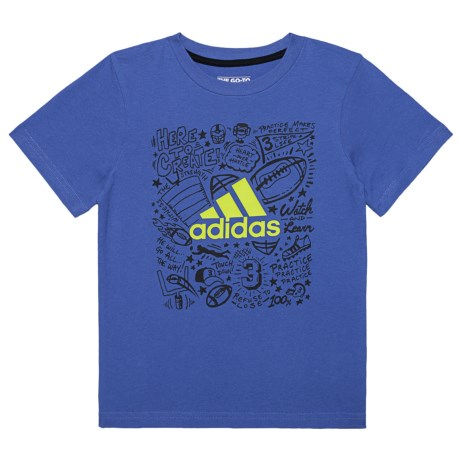 adidas Future Sport T-Shirt - Short Sleeve (For Toddler Boys) in Royal