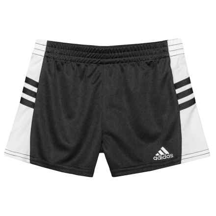 adidas Go Run Shorts (For Little Girls) in Black - Closeouts