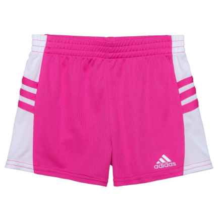 adidas Go Run Shorts (For Toddler Girls) in Neon Pink - Closeouts