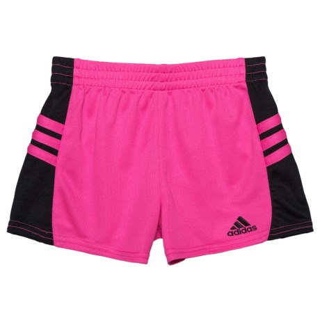 adidas Go Run Shorts (For Toddler Girls) in Pink W/Black