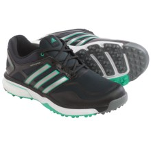 adidas golf AdiPower® Sport Boost Golf Shoes - Waterproof (For Women) in Black/Dark Silver Metallic/Green - Closeouts
