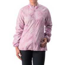 adidas golf Advance Cold Dye Wind Jacket (For Women) in Light Orchid /Solid Grey - Closeouts
