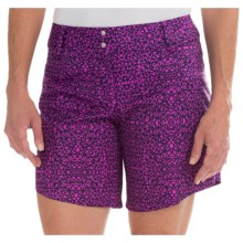 adidas golf Advance Deco-Print Shorts (For Women) in Flash Pink - Closeouts