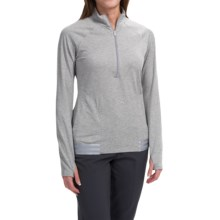 adidas golf Advance Deco Rangewear Jacket - Zip Neck (For Women) in Medium Grey Heather - Closeouts