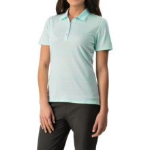 adidas golf Advanced Merchandising Polo Shirt - Short Sleeve (For Women) in Ice Blue/Solid Grey/Light Orchid - Closeouts