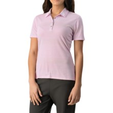 adidas golf Advanced Merchandising Polo Shirt - Short Sleeve (For Women) in Pearl Amethyst/Light Orchid/Solid Grey - Closeouts