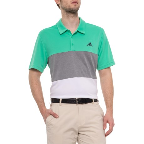 0d4a6b793 adidas Golf Advantage Colorblock Polo Shirt - Short Sleeve (For Men) in Hi-