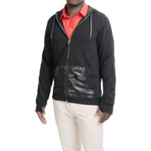 adidas golf Capsule Hooded Jacket - Full Zip (For Men) in Black - Closeouts