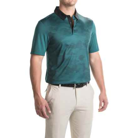 adidas golf ClimaChill® Camo Print Polo Shirt - Short Sleeve (For Men) in Utility Green - Closeouts