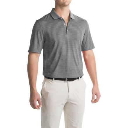 adidas golf ClimaCool® 2-Color Pencil Stripe Polo Shirt - Short Sleeve (For Men) in Vista Grey - Closeouts