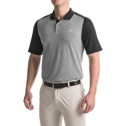 adidas golf ClimaCool® Aeroknit Polo Shirt - Short Sleeve (For Men) in Black/Vista Grey - Closeouts