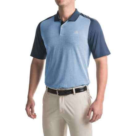 adidas golf ClimaCool® Aeroknit Polo Shirt - Short Sleeve (For Men) in Ray Blue/Mineral Blue - Closeouts