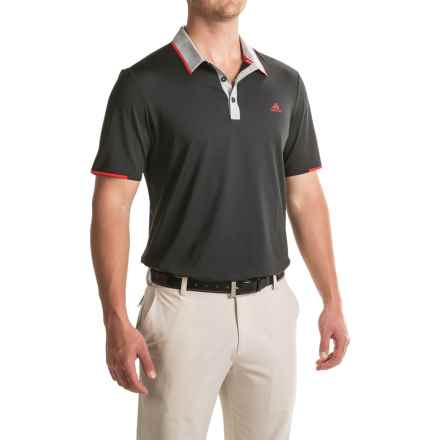 adidas golf ClimaCool® Branded Polo Shirt - Short Sleeve (For Men) in Black/Stone - Closeouts
