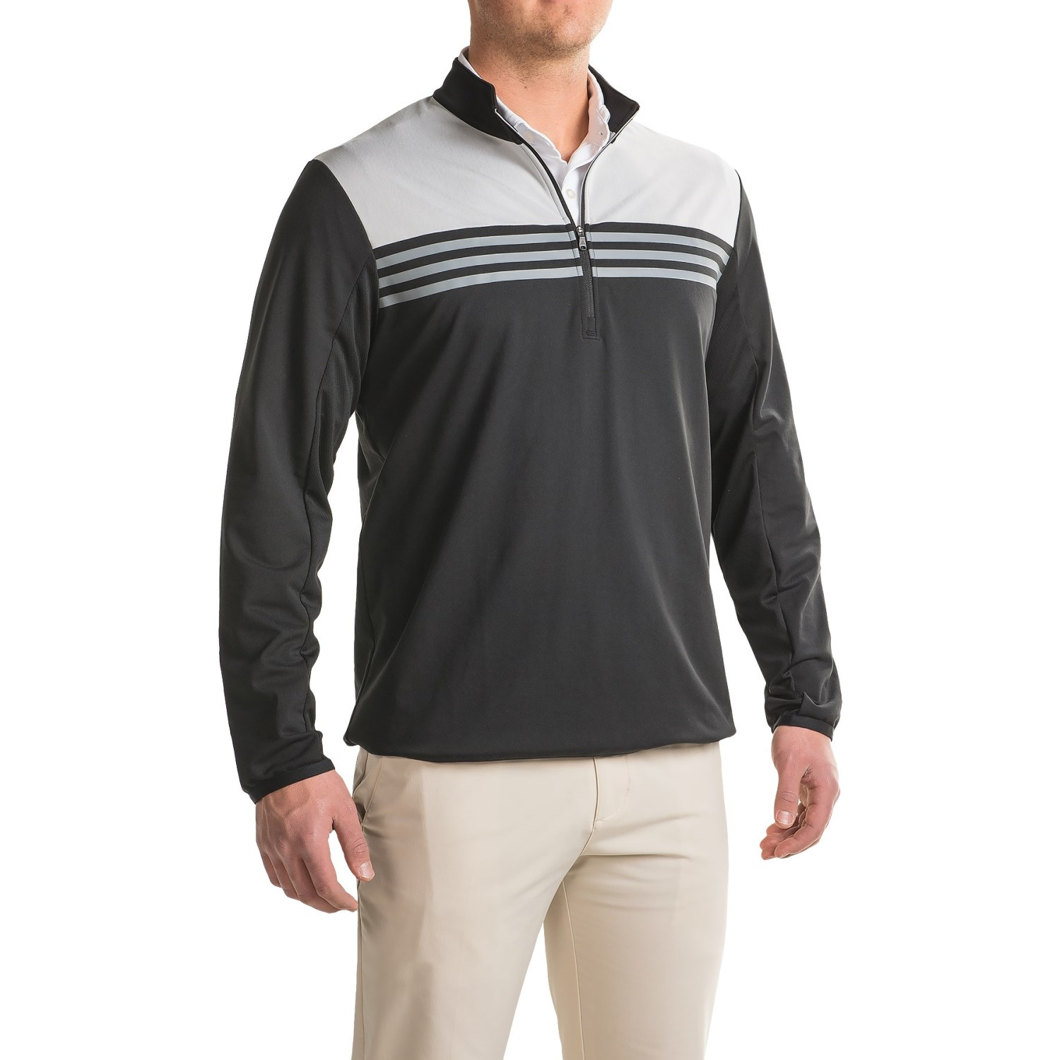 adidas golf ClimaCoolu00ae Color-Block Layering Shirt (For Men) - Save 68%