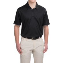 adidas golf ClimaCool® Color Pop Polo Shirt - Short Sleeve (For Men) in Black/Vista Grey - Closeouts