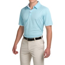 adidas golf ClimaCool® Color Pop Polo Shirt - Short Sleeve (For Men) in Frozen Blue/White - Closeouts