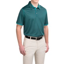 adidas golf ClimaCool® Color Pop Polo Shirt - Short Sleeve (For Men) in Viridian/Bold Aqua - Closeouts