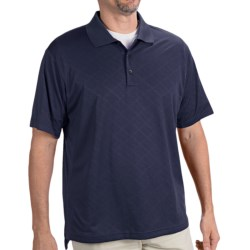 Adidas Golf ClimaCool® Diagonal Textured Polo Shirt - Short Sleeve (For Men) in Bluebonnet/White