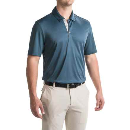 adidas golf ClimaCool® Gradient Polo Shirt - Short Sleeve (For Men) in Mineral Blue - Closeouts