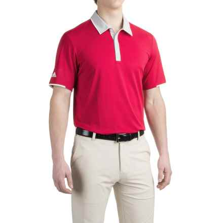 adidas golf ClimaCool® High-Performance Polo Shirt - Short Sleeve (For Men) in Uniby Pink/Stone - Closeouts