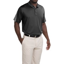 adidas golf ClimaCool® Polo Shirt - Short Sleeve (For Men and Big Men) in Black/Whtie - Closeouts
