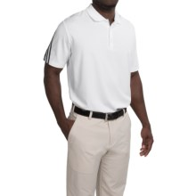 adidas golf ClimaCool® Polo Shirt - Short Sleeve (For Men and Big Men) in White/Black/Mid Grey - Closeouts