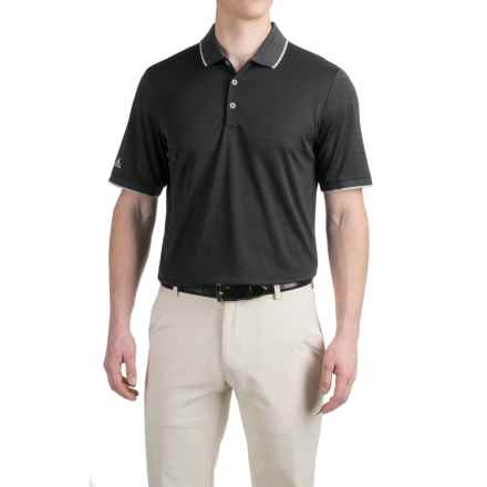 adidas golf ClimaCool® Tipped Club Polo Shirt - Short Sleeve (For Men) in Black - Closeouts