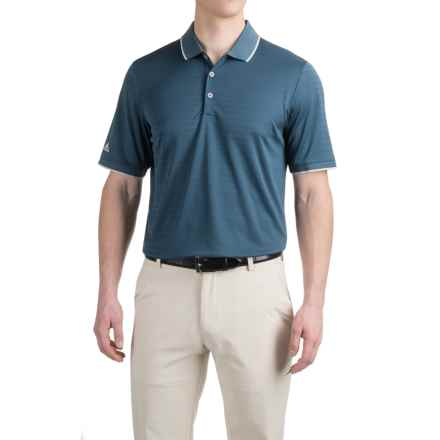 adidas golf ClimaCool® Tipped Club Polo Shirt - Short Sleeve (For Men) in Min Blue - Closeouts
