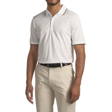 adidas golf ClimaCool® Tipped Club Polo Shirt - Short Sleeve (For Men) in White - Closeouts